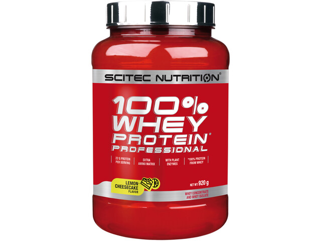SCITEC 100% Whey Protein Professionell Polvo 920g, Citron Cheesecake